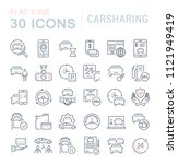 set of vector line icons  sign... | Shutterstock .eps vector #1121949419