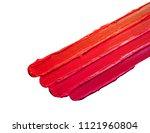 multicoloured lipstick smudge... | Shutterstock . vector #1121960804