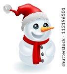 Christmas Snowman Wearing A...