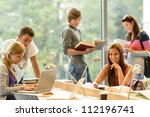 high school students learning... | Shutterstock . vector #112196741