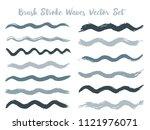 simple brush stroke waves... | Shutterstock .eps vector #1121976071