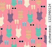 summertime seamless pattern.... | Shutterstock .eps vector #1121980124