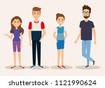 group of young people avatars   Shutterstock .eps vector #1121990624
