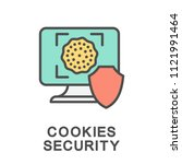 icon cookies security.... | Shutterstock .eps vector #1121991464