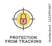 icon protection from. blocking... | Shutterstock .eps vector #1121991467