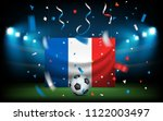 football stadium with the ball... | Shutterstock .eps vector #1122003497