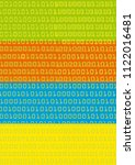 binary codes colorful... | Shutterstock .eps vector #1122016481