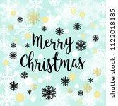 merry christmas background.... | Shutterstock . vector #1122018185