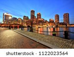 boston skyline with financial... | Shutterstock . vector #1122023564