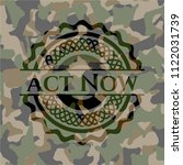 act now on camo pattern | Shutterstock .eps vector #1122031739