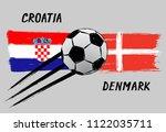 flags of croatia and denmark  ... | Shutterstock .eps vector #1122035711