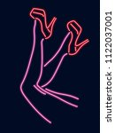 vector illustration. neon... | Shutterstock .eps vector #1122037001