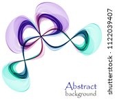 bright abstract butterfly on a... | Shutterstock .eps vector #1122039407