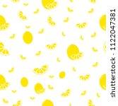 lemon illustration. textiles ... | Shutterstock .eps vector #1122047381