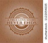a true love story never ends... | Shutterstock .eps vector #1122054035
