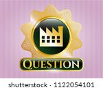 golden emblem or badge with... | Shutterstock .eps vector #1122054101