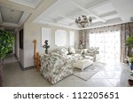 the pastoral style living room | Shutterstock . vector #112205651