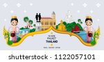 thailand travel concept the...   Shutterstock .eps vector #1122057101