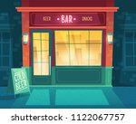 vector cartoon background with... | Shutterstock .eps vector #1122067757