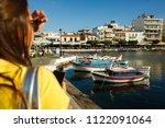 greece  ayios nikolaos ... | Shutterstock . vector #1122091064
