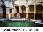 city roman baths of bath ...   Shutterstock . vector #1122093881