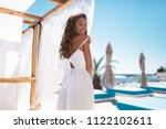 close up portrait of... | Shutterstock . vector #1122102611