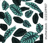 seamless tropical pattern.... | Shutterstock .eps vector #1122109907