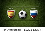 football match schedule  spain... | Shutterstock . vector #1122112334