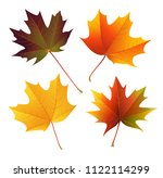 decorative autumn leaves. set... | Shutterstock .eps vector #1122114299