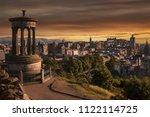 beautiful sunset view from... | Shutterstock . vector #1122114725