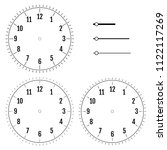 set of round clock faces.... | Shutterstock .eps vector #1122117269