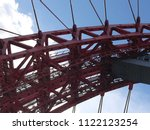 top part of cable stayed metal...   Shutterstock . vector #1122123254