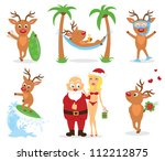 christmas holiday on the beach. | Shutterstock .eps vector #112212875