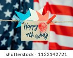 happy fourth of july against... | Shutterstock . vector #1122142721