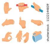 vector illustration of hand... | Shutterstock .eps vector #1122144839