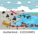 vector illustration of water... | Shutterstock .eps vector #1122144851
