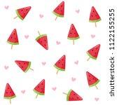 watermelon  ice cream seamless... | Shutterstock .eps vector #1122155255