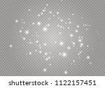 white sparks and golden stars... | Shutterstock .eps vector #1122157451