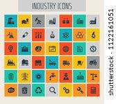 big industry icon set | Shutterstock .eps vector #1122161051