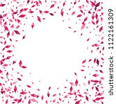 confetti of two colored rhombs... | Shutterstock .eps vector #1122161309