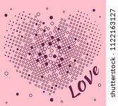 heart of dots. romantic print... | Shutterstock .eps vector #1122163127