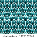 classic floral art deco... | Shutterstock .eps vector #1122167741