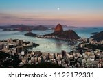 sugarloaf mountain and botafogo ...   Shutterstock . vector #1122172331