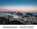 sugarloaf mountain and botafogo ...   Shutterstock . vector #1122172337