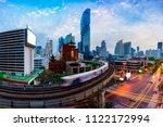 aerial view of bangkok modern...   Shutterstock . vector #1122172994