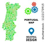 gear portugal map collage of... | Shutterstock .eps vector #1122173915