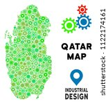 gear qatar map mosaic of small... | Shutterstock .eps vector #1122174161