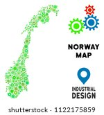 gear norway map collage of... | Shutterstock .eps vector #1122175859