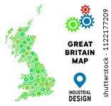 gear great britain map mosaic... | Shutterstock .eps vector #1122177209