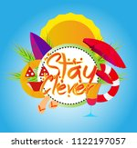stay clever  vector beautiful... | Shutterstock .eps vector #1122197057